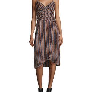 DVF Saige Striped Stretch Silk